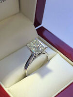 "Diamond Engagement Ring 1.10CT Bague de Fiançailles ""Princesse"""