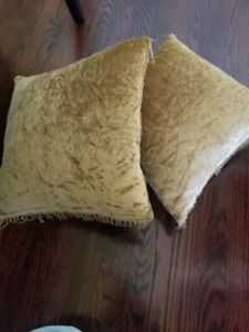 Two gold cushions