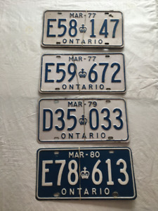 4 Sets (in pairs of 2) of ON, Truck License Plate