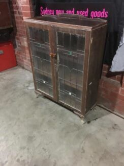 Leadlight Queen Anne display cabinet can deliver  Penrith Penrith Area Preview