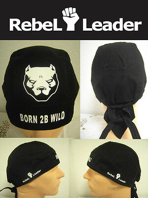 NEU > REBEL LEADER BORN 2B WILD Bandana Bikertuch Piratentuch Pitbull Terrier