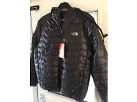 North face coat with built in headphones BNWT