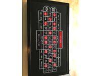 Roulette, blackjack and craps set