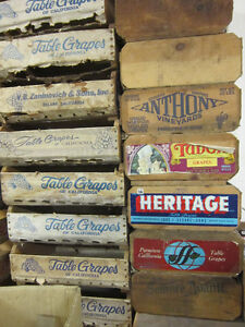 Vintage California Table Grape Boxes. ** ONLY $10. Each ** Kitchener / Waterloo Kitchener Area image 6