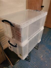 Extra large storage boxes premium Grade plastic