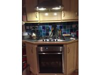 Neff oven 5 burner gas hob and electric vented cooker extractor hood