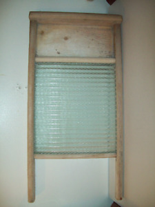 LARGE ANTIQUE WASHBOARD FROM MENNONITE HOME
