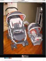 Stroller and car seat Graco/ pousette