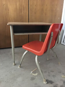 Retro Student Desk and Chair