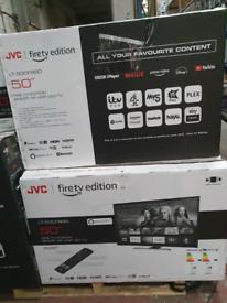 TV 50INCH JVC BUILT-IN FIRE STICK SMART 4K ULTRA HD HDR