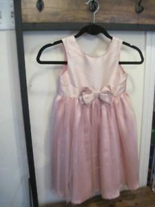 Pretty pink dress.
