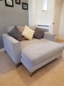 Light Grey 2 seater extra long sofa