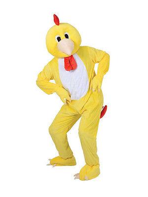 Adult Big Head Funky Little Chicken Fancy Dress Mascot Costume Farm Animal BN
