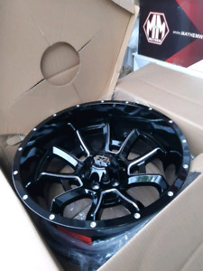 NEW 20X10 -25 6BOLT VISION RIMS