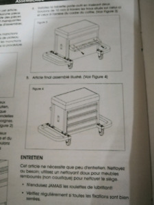 Rolling Tool chest seat