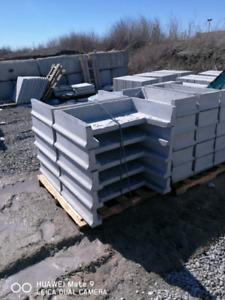 Patio slab concrete step