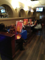 Bring out your artist side up with paint night @ matador. Monday