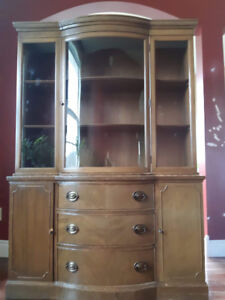 Antique Hutch and China cabinet-can be sold together or separate