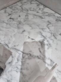 Kitchen worktop 60mm x 3.7 meter length marble effect,