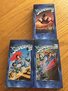 3 VHS - SuperMan (8$)