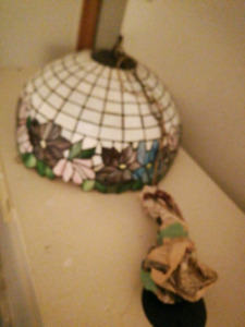 Stain glass lamp shad