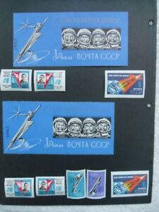 1962-RUSSIA-Rare Soviet #1 Space Souvenir Sheets With Stamps.