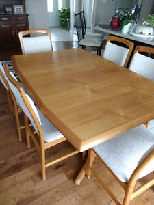 Teak Dining Room Table & Chairs
