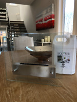 Stainless Steel & Glass - Ethanol Fireplace w 2 liters of fuel