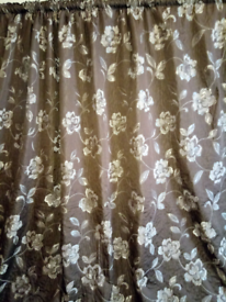 NEXT PRE OWNED LUXURY, FULLY LINED CURTAINS WITH PENCIL PLEAT