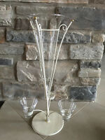 25 Rod Iron and glass Vintage centrepieces