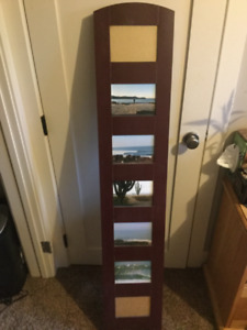 Wooden stand up picture frame