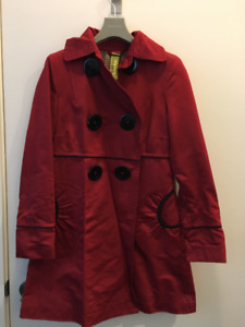 Soia & Kyo Red Trench Coat, Size M