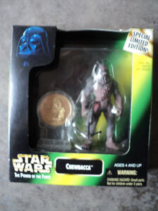 Star Wars Chewbacca with Minted Coin *NEW IN BOX*