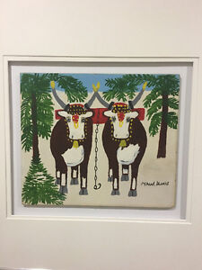 Maud Lewis Pair of Oxen