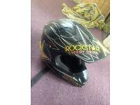 Rockstar motor cross helmet