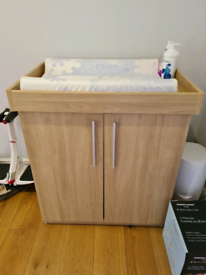 Baby Changing Table and cabinet.