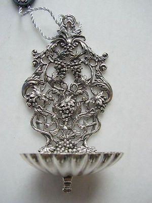 Silberschale Weihwasserschale Traubenmotiv 800er Arezzo Aquasantiera NEU