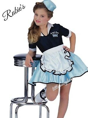 50s Diner Costume Favorite Girls Car Hop Size Small Halloween Costume Dress Up - Girls Car Hop Costume