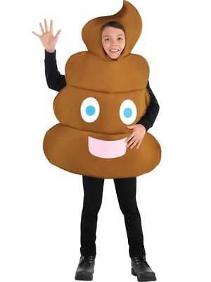 Poo Pooper Emoji Tunic Novelty Funny Child Kids Fancy Dress Smiley Costume Turd