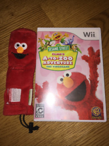 Elmo A-to-Zoo Wii game with remote cover