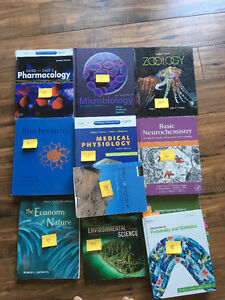 Lakehead biology and chemistry textbooks for cheap