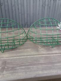Garden hanging basket metal wall planters