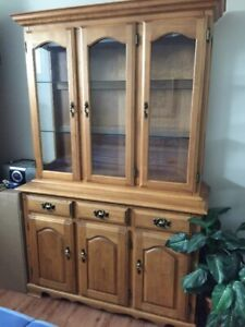 Solid Maple China Hutch and Buffet-price has been reduced!!