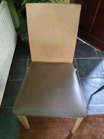 X12 HEAVY WOODEN PADDED SEAT CHAIRS.