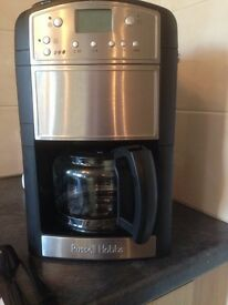 Russell Hobs 'the platinum grind and brew' coffee maker