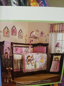 Crib Bedding Set and Accessories - Jacana Nursery Collection