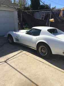 All original, single owner, Pearl White  T Top  '72 Vette