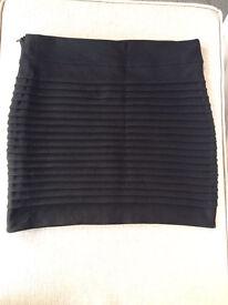 Women's New Black, Ribbed Miniskirt, Size 10