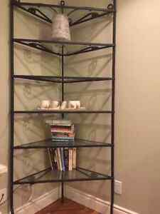 Rod iron shelving unit just reduced in price.