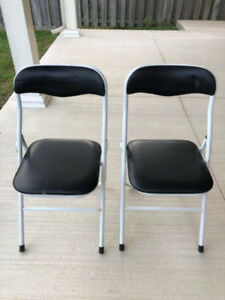 2 Folding Padded Chairs